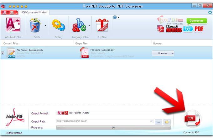 How to convert Accdb to PDF? FoxPDF Accdb to PDF Converter