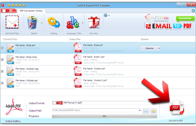 How to Convert Email to PDF? FoxPDF Email to PDF Converter, Email ...