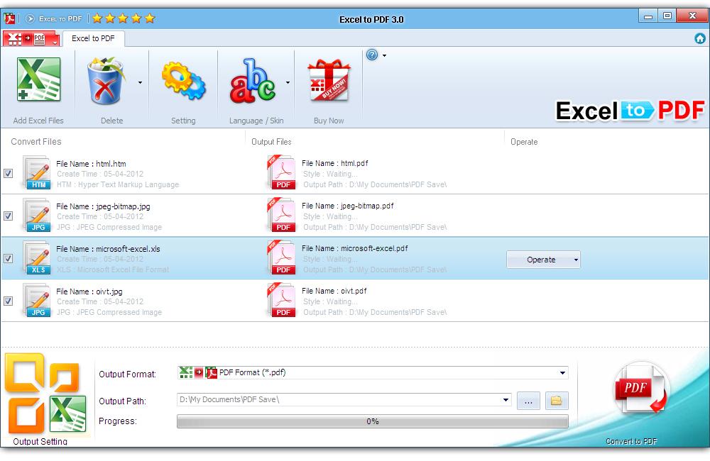 pdf-convert excel to pdf converter v3.0