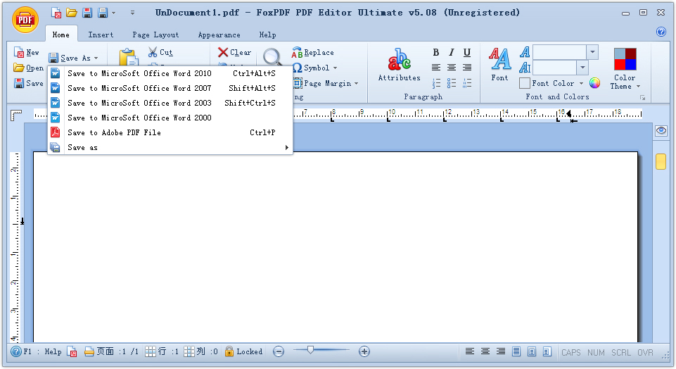 Click to view FoxPDF PDF Editor Ultimate screenshots