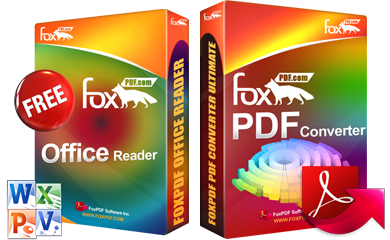Office Reader, Free Office Reader, Microsoft Office Reader, FoxPDF