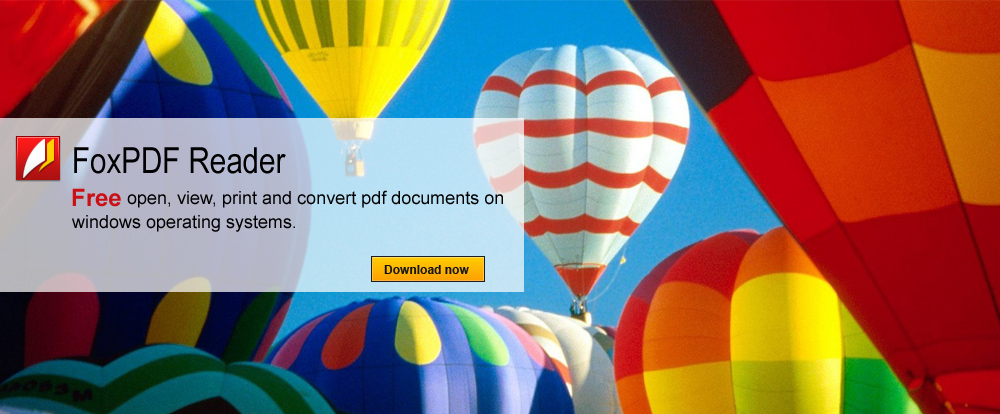 FoxPDF Reader software is the free, faster, lighter trusted for reliably open, viewing, printing, and convert PDF documents to TXT, BMP, JPG, JPEG, GIF, PNG, TIF, TIFF with this full-featured free PDF viewer.