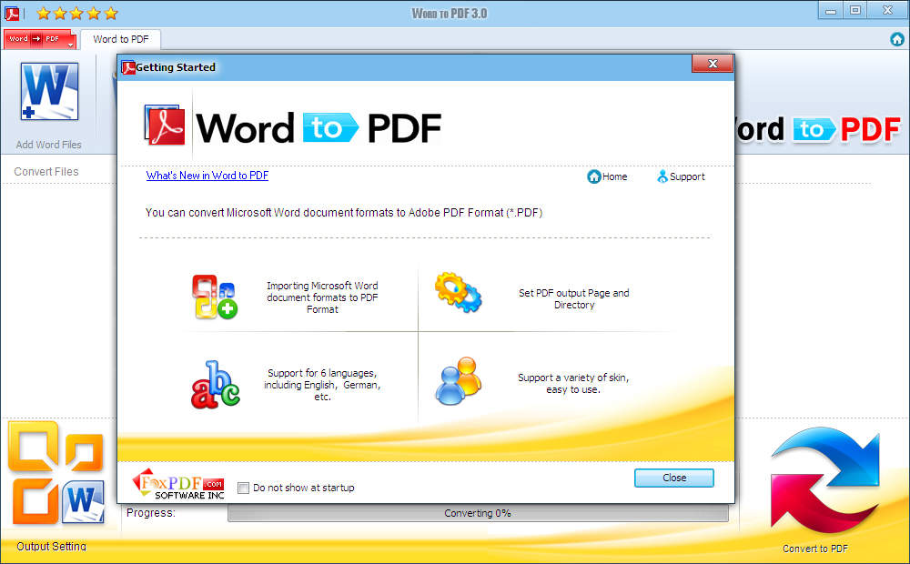 Click to view Word DocX to PDF screenshots